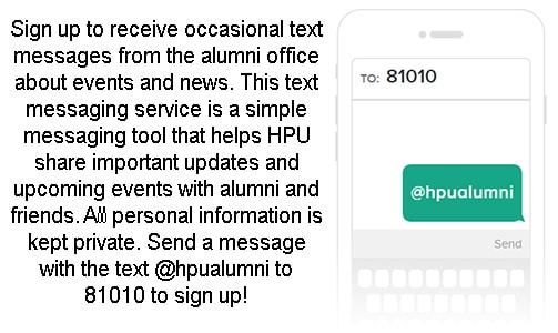 Alumni Text Message
