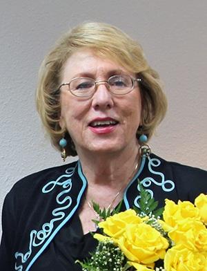Ann Jones with roses