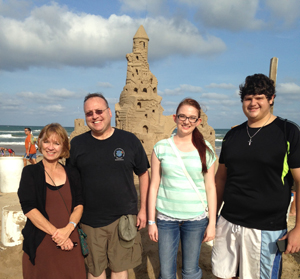 CRJ faculty and students at South Padre Island for web
