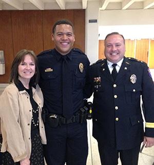 Dane Bryant police academy graduation
