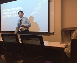 Dr Derek Smith presenting