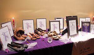 Empty Shoes display
