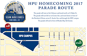 HC17 Parade Route Map
