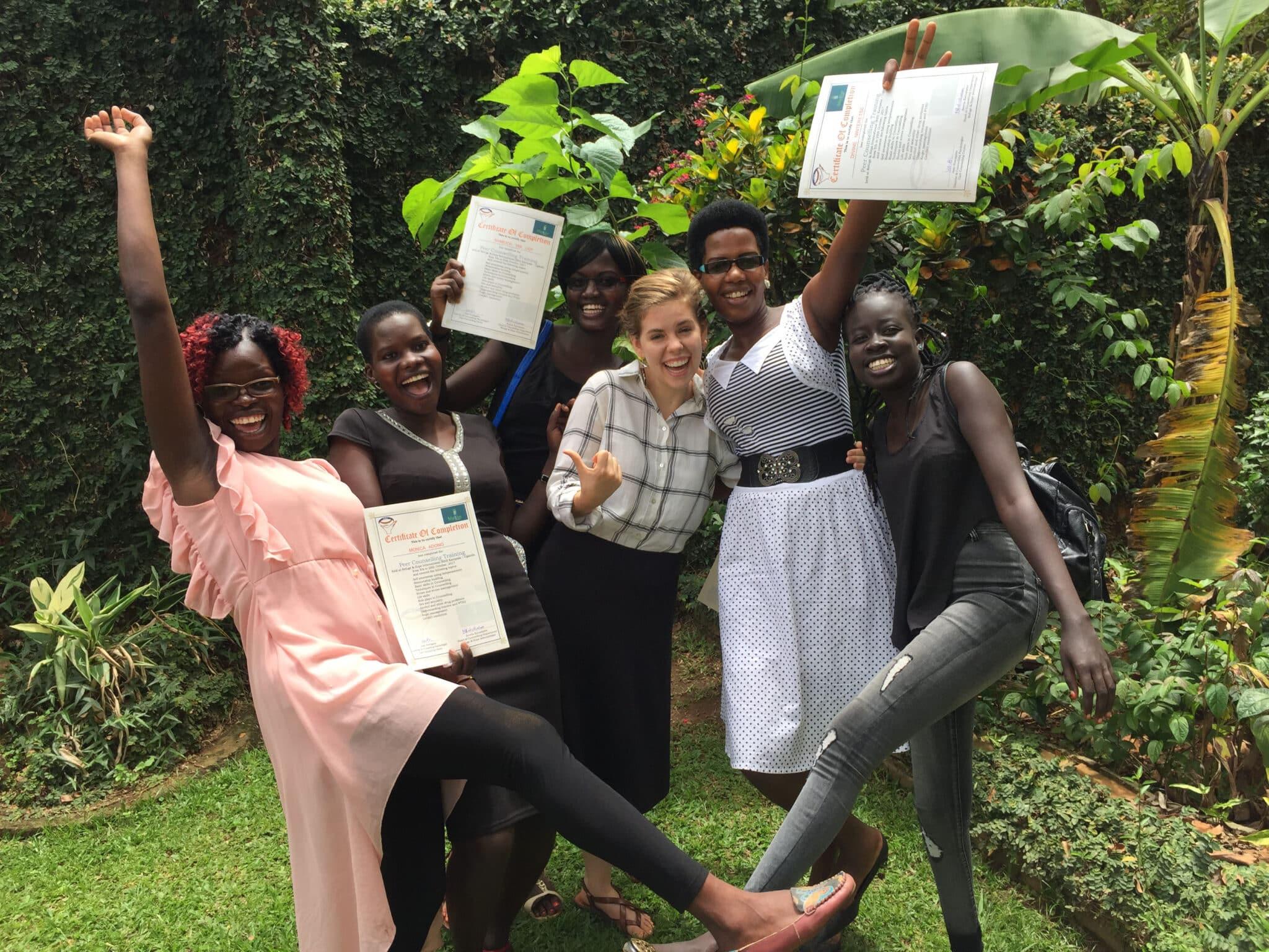 Jaclyn Bonner with graduates