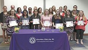 Kappa Delta Pi inductees for web