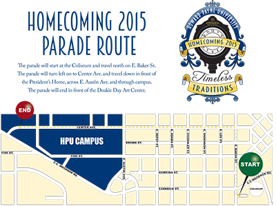 Parade Route Map 2015