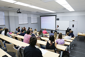 Students in updated Winebrenner classroom