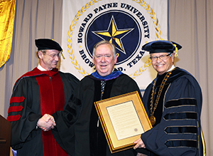 Tew, Bicknell and Ellis at Commencement for web