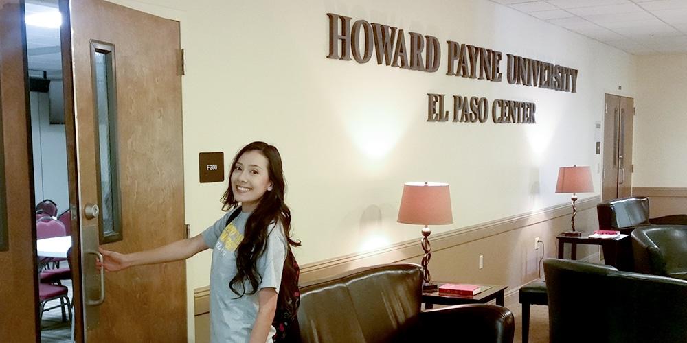 El Paso student in hallway
