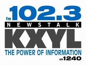 102.3 KXYL Newstalk logo